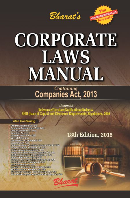 Buy CORPORATE LAWS MANUAL by Bharat's Bharat Law House Pvt