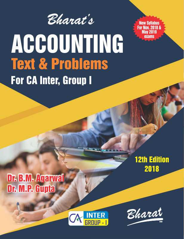 ACCOUNTING (Text and Problems) (For CA Inter Group I)