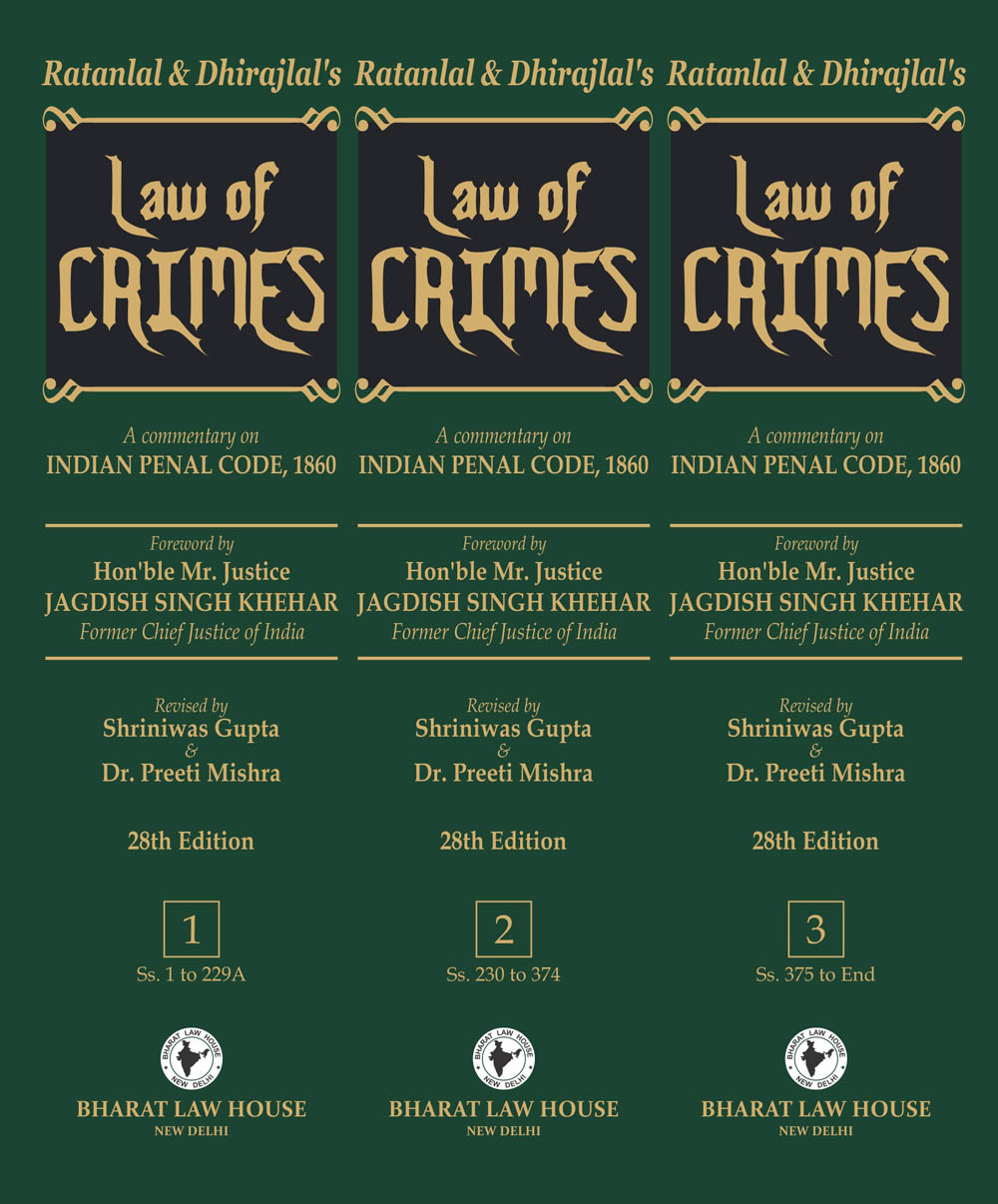 Law of CRIMES (in 3 Volumes)