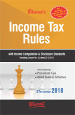 INCOME TAX RULES with Return Forms for A.Y. 2018-19 (with New ITR Forms & Instructions)