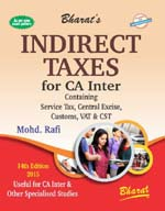 Buy INDIRECT TAXES for CA Inter