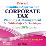 Buy Simplified Approach to CORPORATE TAX PLANNING & MANAGEMENT (As applicable for A.Y. 2016-17)