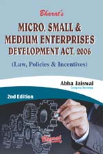 Buy MICRO, SMALL & MEDIUM ENTERPRISES DEVELOPMENT ACT, 2006 (Law, Policies & Incentives)