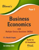 Buy BUSINESS ECONOMICS with Multiple Choice Questions (MCQs) for CS Foundation (Paper 3)