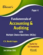 Buy FUNDAMENTALS OF ACCOUNTING & AUDITING with Multiple Choice Questions (MCQs) for CS Foundation (Paper 4)