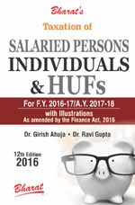 Buy Taxation of SALARIED PERSONS, INDIVIDUALS & HUFs