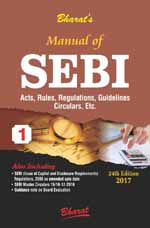 Buy Manual of SEBI ACT, Rules, Regulations, Guidelines, Circulars, etc.