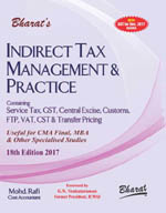Buy INDIRECT TAX MANAGEMENT & PRACTICE (For CMA Final)