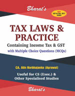 Buy Tax Laws & Practice with MCQs (For CS Exec.)