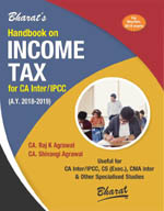 Buy Handbook on INCOME TAX (A.Y. 2018-2019) (For CA Inter-May/Nov. 2018)