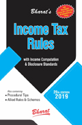 INCOME TAX RULES with Return Forms for A.Y. 2019-20 (with New ITR Forms & Instructions)