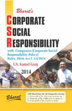 CORPORATE SOCIAL RESPONSIBILITY with Companies (Corporate Social Responsibility Policy) Rules, 2014,  w.e.f. 1-4-2014