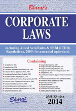 Buy CORPORATE LAWS containing Companies Act, 1956 with Allied Acts, Rules, SEBI (ICDR) Regulations, 2009 with NEW SCHEDULE VI (with Free Download)