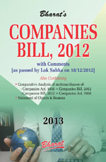 Buy The COMPANIES BILL, 2012 with Comments