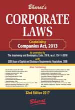 Buy Bharat's CORPORATE LAWS Containing Companies Act, 2013 & Allied Laws