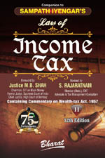 Companion to Sampath Iyengar's Law of INCOME TAX [Vol. 11: Containing Commentary on Wealth Tax Act, 1957]